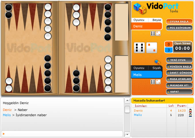 Online Multiplayer Backgammon Java Applet