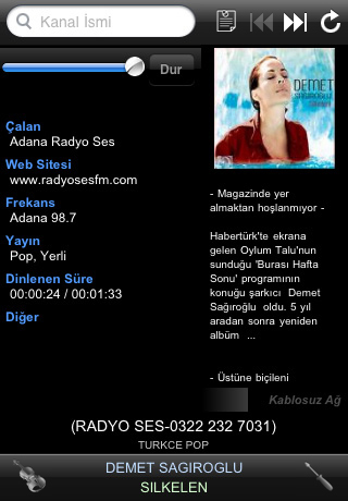 Radyo iPhone / iPod application screenshot 3