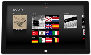 RADYO on Microsoft Surface