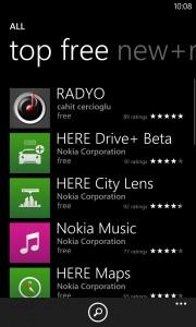 RADYO 1st place Windows Phone Store